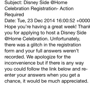 disney side problem email