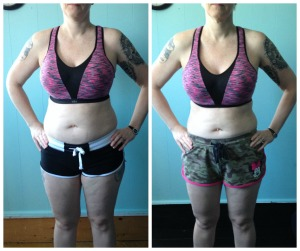 My before and after the 21 Day Fix