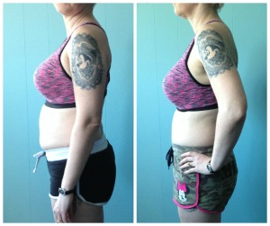 Another angle of before and after 21 Day Fix